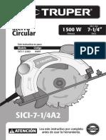 Manual Usuario Sierra Circular Truper 1500w 16697