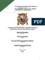 INF3-Inclusiones Fluidas Aplicadas a La Exploración de Los Yacimientos Minerales Tipo Porfidos y Skarn