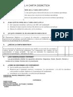 La carta didactica y planeamiento