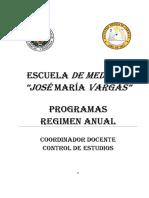 Programa Anual Escuela de Medicina (UCV) Jose Maria Vargas