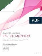 Manual monitor LG 23mp55hq