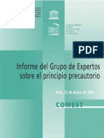 COMEST. (25 de marzo de 2005). Informe del Grupo de Expertos sobre el principio precautorio..pdf