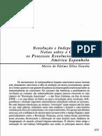 Revolução e Independências_notas sobre o Conceito e os Processos Revolucionários na América Espanhola - Maria de Fátima Silva Gouvêa.pdf