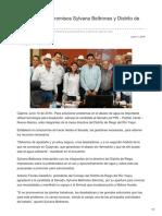 11/06/2018 Establecen compromisos Sylvana Beltrones y distrito de riego del Yaqui