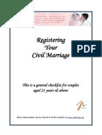 Marriage Process Checklist