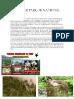 El Primer Parque Nacional de Perú Xd