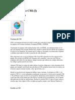 1 El Lenguaje CSS