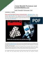 Alasan Utama Untuk Memilih Permainan Judi BandarQ Online/SAKONGKIU.com
