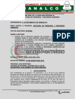 Modelo Informe - Expedientes - AUDITORIA 2010