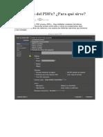 Qué es eso del PDF