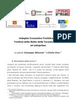 Indagine Economico-Turistica Notte Della Taranta 2010