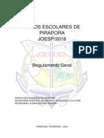 Joesp 2018 Regulamento Geral e Específicos