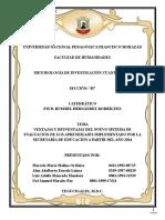 Ventajas y Desventajas Del Nuevo Sistema de Evaluacic3b3n de Los Aprendizajes Implementados Po La Secretarc3ada de Educacic3b3n a Partir Del Ac3b1o 20141