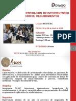 Interventoria en Aplicacion Recubrimientos - ABRIL Bogota 2018