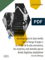 Decálogo para la clase media... - Gerardo Montoya