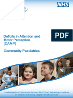 0034 Deficits in Attention and Motor Perception