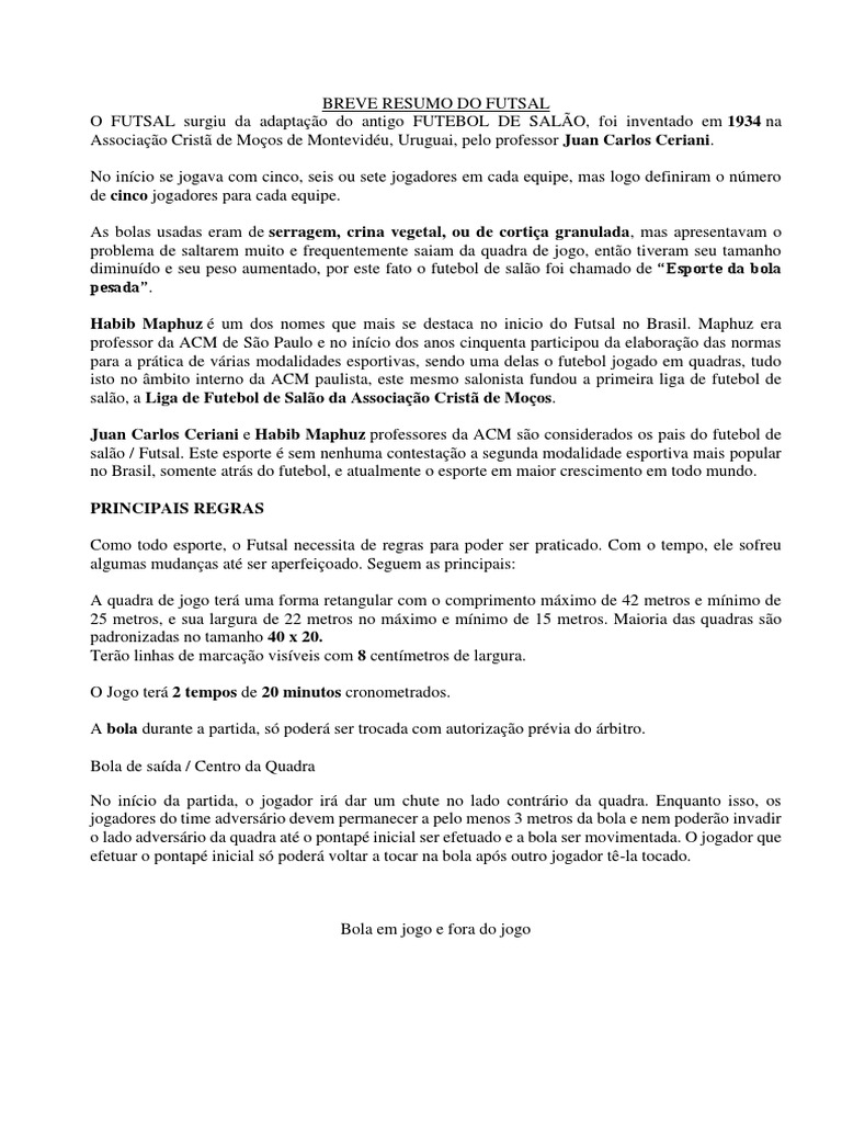 Breve Resumo Do Futsal d70acff7392e1
