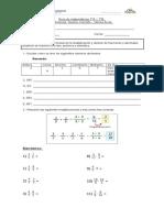Guía de Decimales y Fracciones