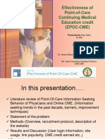 Effectiveness of Point-Of-Care CME_v3