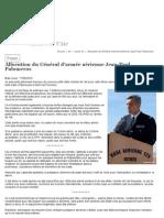Allocution du Général d'armée aérienne Jean-Paul Palomeros