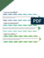 Sociedad Cultura y Educacion