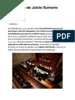 ¿Qué es Juicio Sumario? - Su Definición, Concepto y Significado