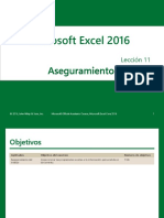 Excel Core 2016 Lesson 11