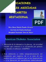 Compliciones Perinatales en Diabetes Gestacional Dra Rosa Pa