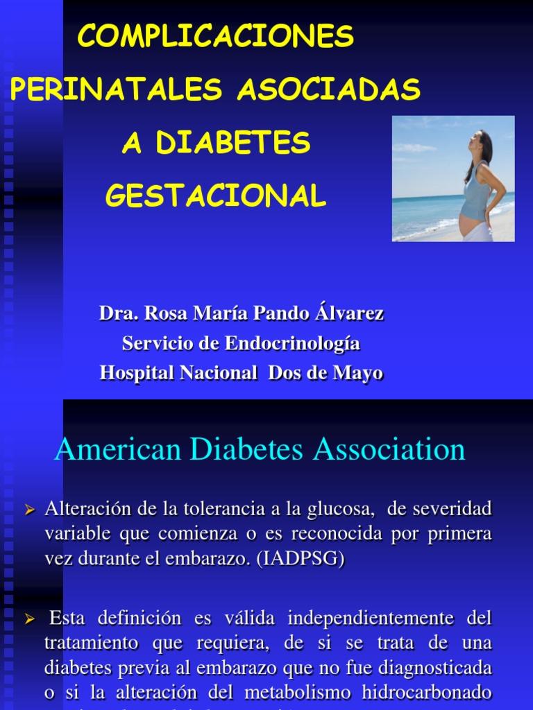 diabetes gestacional diagnosticada más tarde en el embarazo