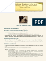 Boletín jurisprudencial No 6 - 2018