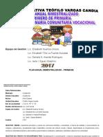 Plan Anual Bimestralizados (2017) Primero de Primaria