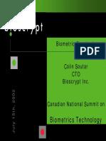 Biometric Standards