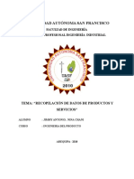 Recopilación de Datos de Productos y Servicios