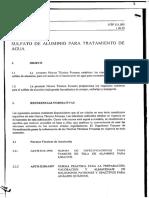 Ntp 311.095 1999 Sulfato de Aluminio Tratamiento de Agua de Agua. Requititos