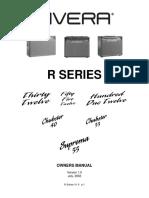 Manual Rivera Amps R-SeriesV1.0