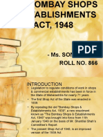The Bombay Shops & Establishment Act, 1948