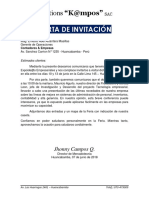 Carta de Invitación