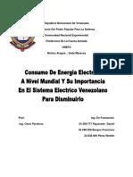 Consumo de Energia Electrica en Venezuela