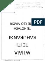 wananga reo class booklet