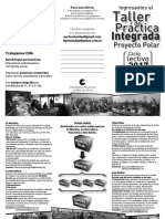 Taller de Práctica Integrada Folleto 2017