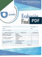 Editorial Mateo Sexto Grado Evaluacion Final