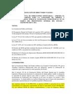 Bcb Resolución de Directorio 023 2011