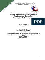 I. Informe VIH 2016 Ministerio de Salud Costa Rica