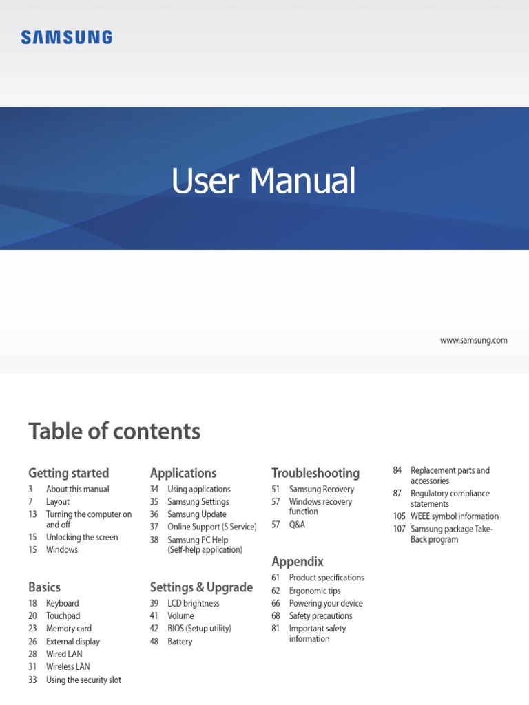 Samsung Laptop Manual ENG | Secure Digital | Ip Address