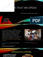 The Skin That We Speak - Presentation/POST