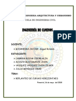 Informe Replanteo Curvas Horiz. Chimoy