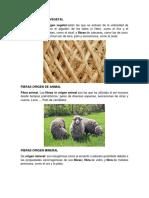 Fibras Origen de Vegetal