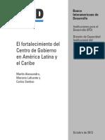 1. El fortalecimiento del Centro de Gobierno en América Latina y el Caribe-BID