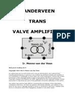 Vanderveen Trans Valve Amplifiers
