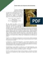 Onomástica de Nuestra Señora de la Esperanza